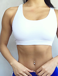 Mulheres Secagem Rápida Respirabilidade Sutiã Esportivo para Correr Ioga Fibra Sintética Branco Preto Vermelho Azul S M L