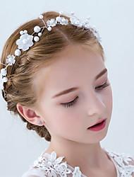 abordables -Imitation de perle Acrylique Diadèmes Fleurs Casque with Imitation Perle Fleur 1pc Mariage Fête / Soirée Casque