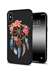 preiswerte -Hülle Für Apple iPhone X iPhone 8 Plus Muster Rückseite Blume Weich TPU für iPhone X iPhone 8 Plus iPhone 8 iPhone 7 Plus iPhone 7 iPhone