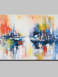 cheap -Hand-Painted Abstract Landscape Horizontal,Modern Canvas Oil Painting Home Decoration One Panel