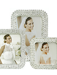 cheap -Modern Style Classic Modern/Contemporary Rhinestone Alloy Silver Electroplated Picture Frames Wall Decorations, 1pc