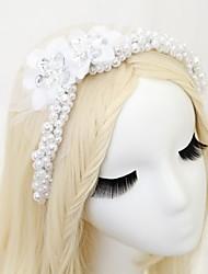 baratos -Chifon Cristal Imitação de Pérola Strass Headbands 1pç Casamento Ocasião Especial Capacete