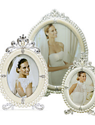 cheap -Antique Classic European Style Pearl Rhinestone Alloy Silver Electroplated Picture Frames Wall Decorations, 1pc