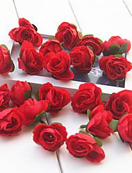 baratos -Flores artificiais 20 Ramo Estilo Moderno Rosas Flor de Mesa