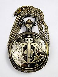 baratos -Casal Quartzo Relógio de Bolso Chinês Impermeável Relógio Casual Lega Banda Luxo Casual Legal Dourada