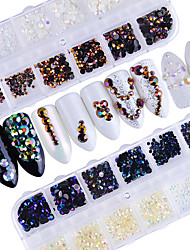 Недорогие -Украшения для ногтей Гель для ногтей Роскошь Украшенный драгоценностями Мода Высокое качество Повседневные Дизайн ногтей