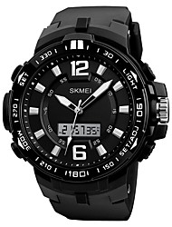 cheap -SKMEI Men's Quartz Sport Watch Chinese Calendar / date / day Water Resistant / Water Proof Noctilucent Stopwatch Three Time Zones PU Band