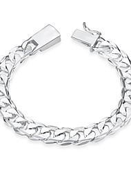 abordables -Homme Chaînes & Bracelets simple Mode Plaqué argent Cœur Bijoux Anniversaire