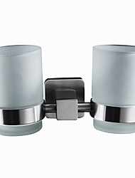 economico -portaspazzolini moderni quadrato in acciaio inox massiccio