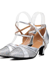 baratos -Mulheres Sapatos de Dança Moderna Glitter / Paetês / Sintético Salto / Têni Lantejoula Salto Cubano Personalizável Sapatos de Dança