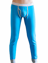 cheap -Men's Cotton Polyester Long Johns Solid Colored Animal Pattern
