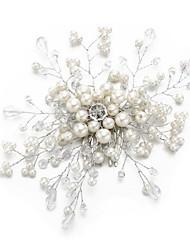 billige -Krystal / Imiteret Perle / Legering Hair Combs med Imitationsperler / Krystal / Rhinsten 1pc Bryllup / Speciel Lejlighed Medaljon