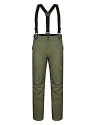 abordables -Hombre Pantalones de Esquí Templado, Impermeable, Resistente al Viento Camping y senderismo / Esquí / Ejercicio al Aire Libre Raso de