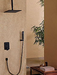 cheap -Shower Faucet - Contemporary Painting Wall Mounted