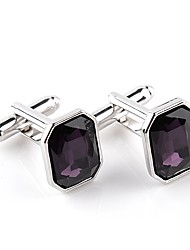 cheap -Geometric Purple Blue Cufflinks Crystal Alloy Formal Classic Fashion Daily Formal Men's Costume Jewelry