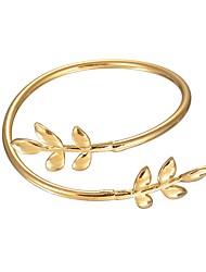 baratos -Mulheres Formato de Folha Bracelete Pulseiras Algema - Asiático Vintage Dourado Pulseiras Para Festa Carnaval