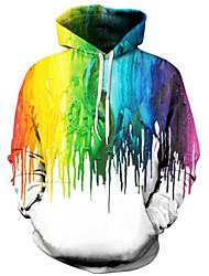 cheap -Men's Plus Size Long Sleeves Hoodie Print Hooded