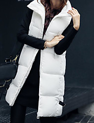 cheap -Women's Padded Coat,Casual Daily Sports Solid-Polyester Sleeveless