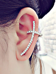 cheap -Women's Mismatch Rhinestone Stud Earrings Clip Earrings - Classic Mismatch Fashion Cross For Evening Party Carnival