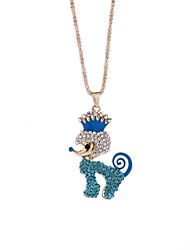 cheap -Women's Rhinestone Pendant Necklace Chain Necklace - Casual Elegant Dog Necklace For Gift Evening Party