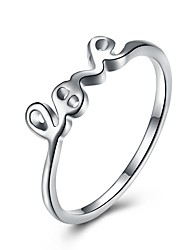 cheap -Women's Lovely Silver Plated Knuckle Ring - Geometric / Irregular Fashion / Sweet Silver Ring For Gift / Daily