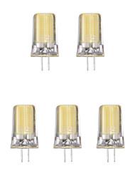 Недорогие -5 шт. 2W 1lm G4 Двухштырьковые LED лампы 1 Светодиодные бусины COB Тёплый белый Холодный белый 220-240V