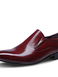 cheap -Men's Formal Shoes Cowhide Spring / Fall Formal Shoes Wedding Shoes Black / Burgundy / Party & Evening / Dress Shoes