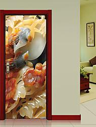 abordables -Paysage Mode Stickers muraux Autocollants muraux 3D Autocollants muraux décoratifs, Vinyle Décoration d'intérieur Calque Mural Mur
