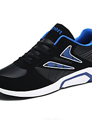 cheap -Men's Shoes Net Tulle Spring Fall Comfort Athletic Shoes Running Shoes Stitching Lace for Athletic Outdoor Black/White Black/Red