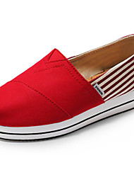 cheap -Women's Shoes Canvas Spring Fall Comfort Loafers & Slip-Ons Flat for Casual Blue Red