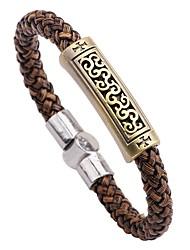 abordables -Homme Bracelet , Classique Elégant Cuir Alliage Forme de Cercle Bijoux Pour Plein Air Sortie