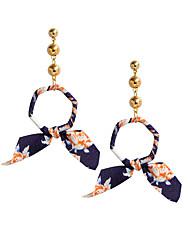 Недорогие -Жен. Серьги-гвоздики Серьги-слезки , металлический Классический Ткань Сплав Геометрической формы Бижутерия Для вечеринок Подарок Бижутерия