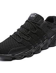 abordables -Homme Chaussures Gomme Printemps / Automne Confort Chaussures d'Athlétisme Marche Bottine / Demi Botte Blanc / Noir / Gris