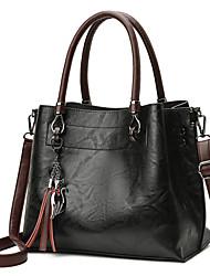 abordables -Femme Sacs PU Cabas Fermeture pour Shopping Noir / Rouge / Marron