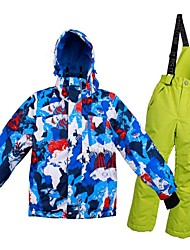 cheap -Girls' Boys' Ski Jacket with Pants Warm Ventilation Windproof Wearable water-resistant Ski / Snowboard Multisport Winter Sports Snowsports