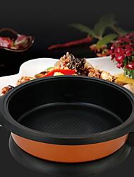 economico -Plastica alluminio Piatto Pan Pot multiuso,34*7