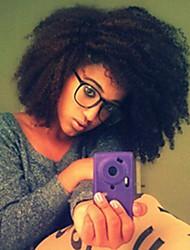 cheap -Mongolian Afro Kinky Human Hair Weaves 3pcs 0.3