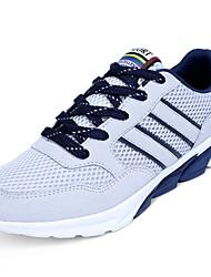 Masculino sapatos Borracha Primavera Outono Conforto Tênis Caminhada Botas Curtas / Ankle Cadarço de Borracha para Preto Azul Escuro