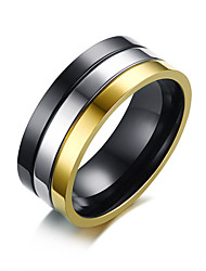 cheap -Men's Band Ring - Stainless Steel Fashion 8 / 9 / 10 Assorted Color For Daily / Formal