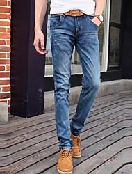 cheap -Men's Cotton Jeans Pants - Solid Colored