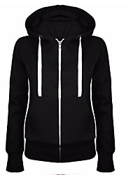 cheap -Women's Going out Cotton Hoodie - Solid Colored / Sporty Look