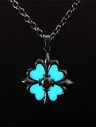 cheap -Women's Flower Fashion Illuminated Luminous Pendant Necklace , Alloy Pendant Necklace , Street Club