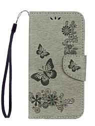 preiswerte -Hülle Für Samsung Galaxy S8 Plus S8 Kreditkartenfächer Geldbeutel mit Halterung Flipbare Hülle Geprägt Ganzkörper-Gehäuse Schmetterling