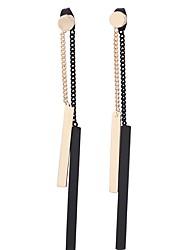 Недорогие -Жен. Серьги-слезки , Нарядная одежда Подарок европейский Сплав В форме линии Square Shape Бижутерия Официальные Для вечеринок Бижутерия