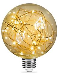 abordables -1pc 3W 200lm E26 / E27 Ampoules à Filament LED G95 33 Perles LED SMD Étoilé Décorative Blanc Chaud 85-265V