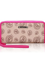 cheap -Women Bags PVC Wallet Pattern / Print Zipper for Casual Office & Career All Season Fuchsia