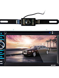 cheap -6.2 inch 2 DIN HD 1080P Car DVD Player  for universal Built-in Bluetooth Touch Screen with DVD-R/RW Mp3 WMA Mp4 RM RMVB WAV JPG