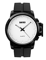 cheap -SKMEI Men's Sport Watch Japanese Calendar / date / day / Water Resistant / Water Proof / Casual Watch Silicone Band Luxury / Casual / Fashion Black / Large Dial