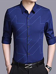 cheap -Men's Chinoiserie Shirt Print