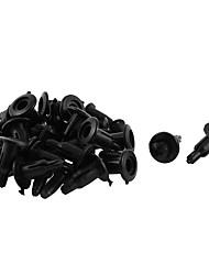 economico -20 pezzi 11mm x 5mm rivetto in plastica nera, rivetto per parafango, clip di fissaggio del fermo del pannello